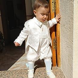 Traje para bautizo Lucas de Vivaki, en color marfil Marfil ...