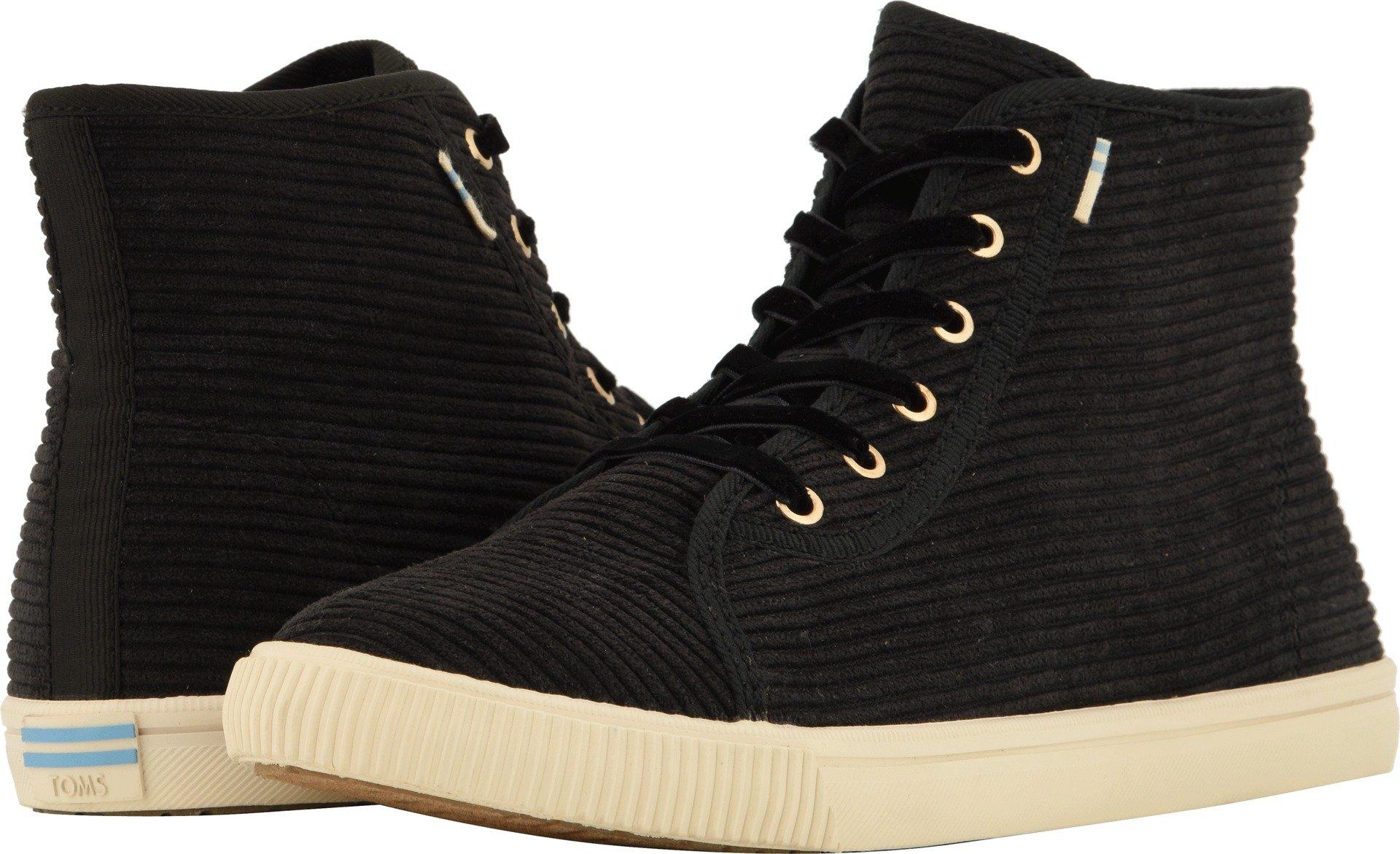 TOMS Women's Camarillo Polyester Sneaker, Size: 8.5 B(M) US, Color: Black Corduroy