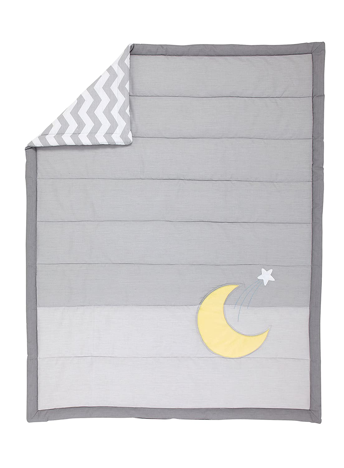 """Little Love by NoJo Separates Collection Star and Moon Applique Comforter 42/"""" x"""