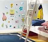 RoomMates RMK1380SCS SpongeBob Squarepants Peel \u0026 Stick Wall Decals & Amazon.com: Nickelodeon SpongeBob Square Table and Chair Set: Toys ...