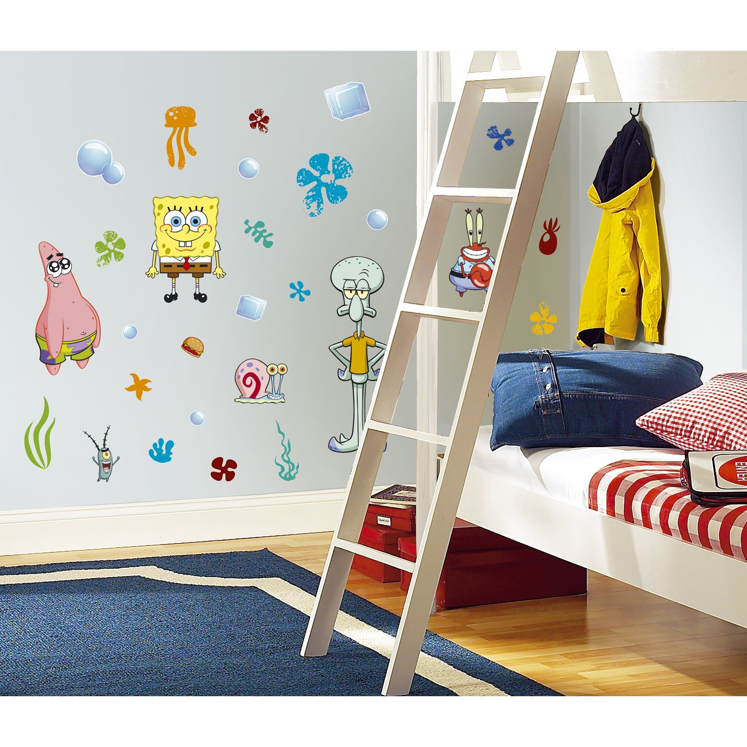RoomMates RMK1380SCS Spongebob Squarepants Peel and Stick Wall Decals