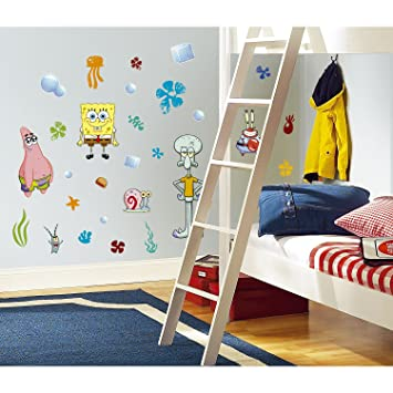 RoomMates RMKSCS SpongeBob Squarepants Peel Stick Wall - Spongebob room decals