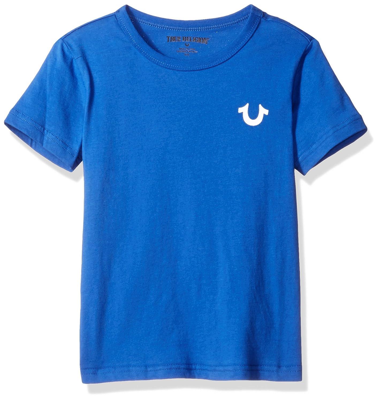 c7393941b Amazon.com: True Religion Little Boys Logo Tee Shirt, Buddha Bright Blue,  5: Clothing