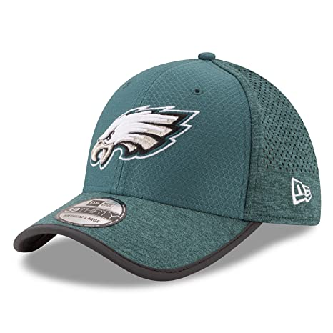 Philadelphia Eagles New Era 2017 Training Camp 39THIRTY Flex Hat -Green  (small medium 0c2a84d3c