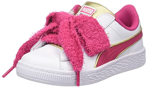 Puma Minions Basket Heart Fluffy PS, Zapatillas para Niñas, Blanco White-Beetroot Purple Team Gold, 31 EU: Amazon.es: Zapatos y complementos
