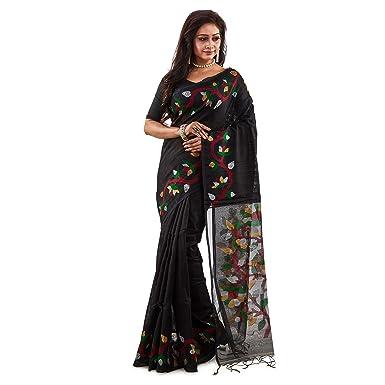 2d0fa93e76f Sarees of Bengal Women's Handloom Matka Muslin Silk Jamdani Saree ...