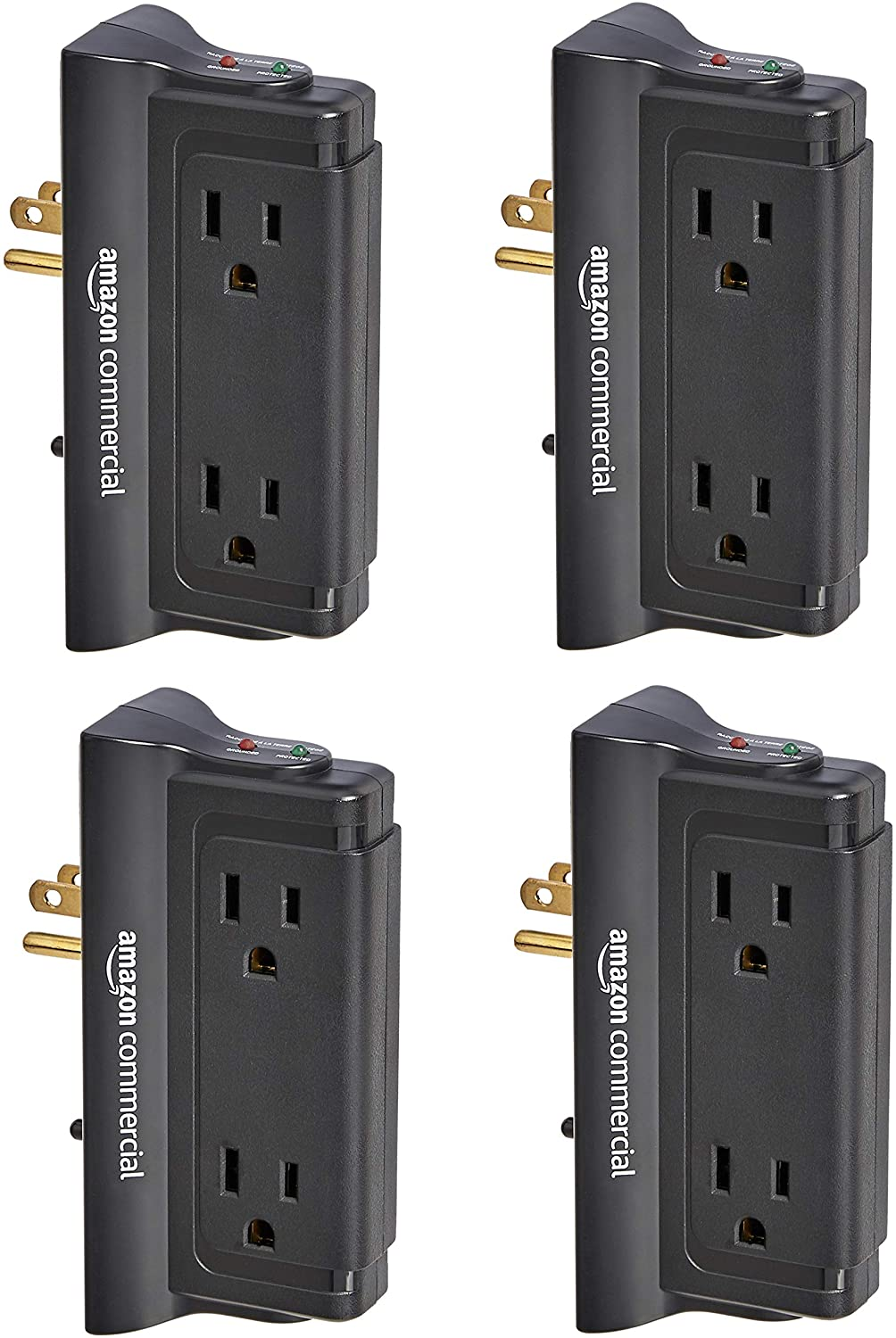 AmazonCommercial 4-Outlet Wall Mounted Surge Protector (6-Pack) $20.10 Coupon