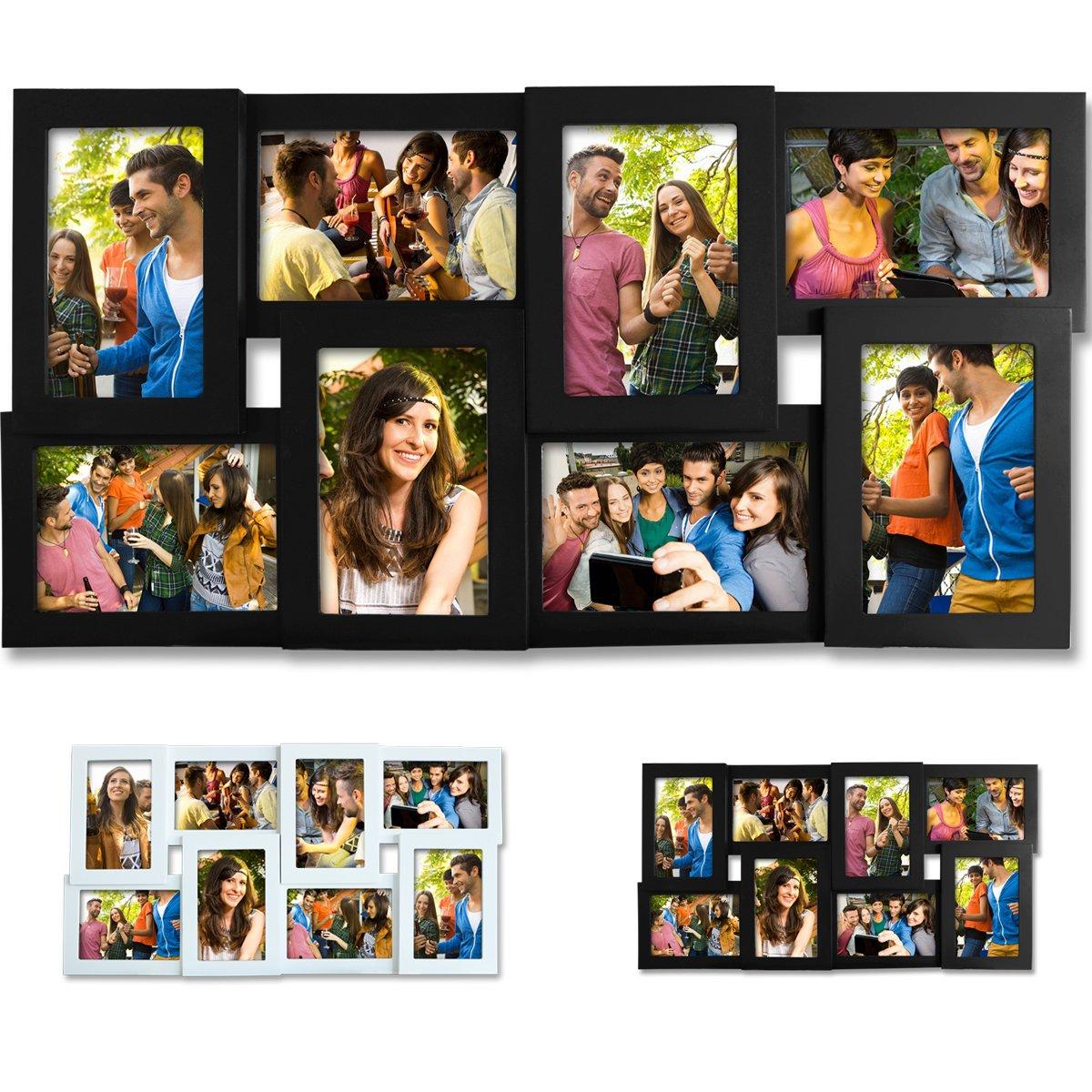 Amazon.de: EUGAD 8 Fotos Collage Bilderrahmen #8, Holz Rahmen, zum ...