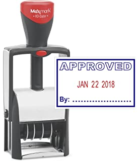 amazon com maxmark date stamp large with approved self inking date
