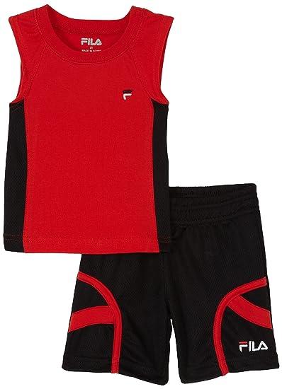 Fila Little Boys' Sleeveless Basketball Tank Shirt Set