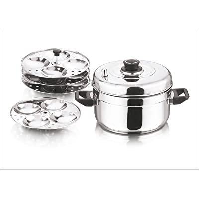 Vinod Stainless Steel Idli Cooker 4 Tiers Stand Idli Maker Plates Cooking New UK