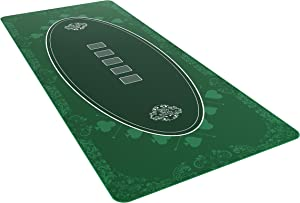 Bullets Playing Cards - Poker Layout - Table Top Mat 6 Foot x 30 inch - Deluxe Playing mat for Casino Night