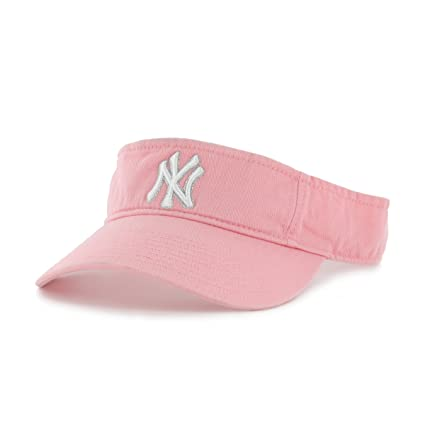 46939f8d00013 Amazon.com   New York Yankees Pink Visor Hat - Adult NY Yankees MLB  Baseball Golf Cap   Sports   Outdoors