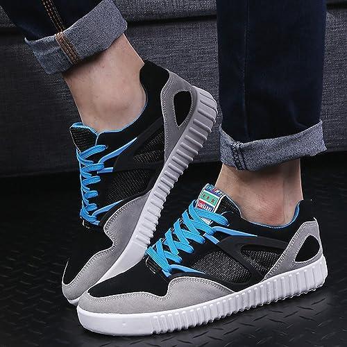ad865a81 Oasap Hombre Zapatillas Deportivas de Lona Bloque de Color Mallas Cordones  para Arriba: Amazon.es: Zapatos y complementos