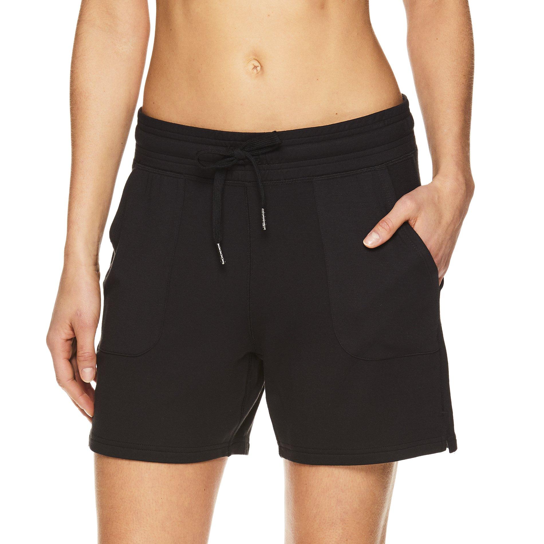 Gaiam Women's Warrior Yoga Short - Bike & Running Activewear Shorts w/Pockets - Black (Tap Shoe), 2X