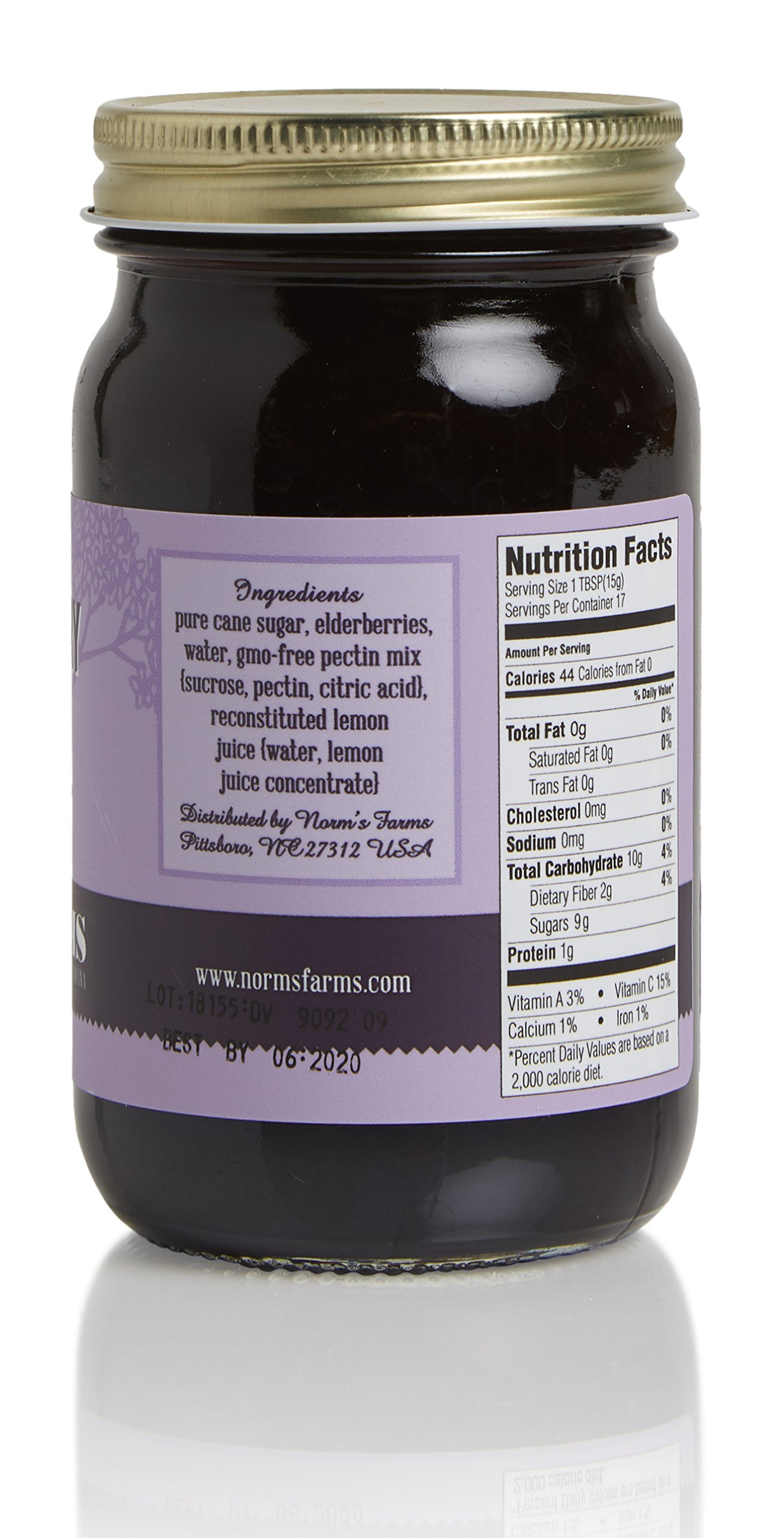 Norm's Farms Elderberry Jam Pack, Delicious and Flavor Packed, 9 Ounce Jar, Pack of 3