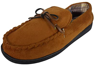 295b35a5c Coolers Mens Faux Suede Leather Moccasin House Slippers Moccasins ...