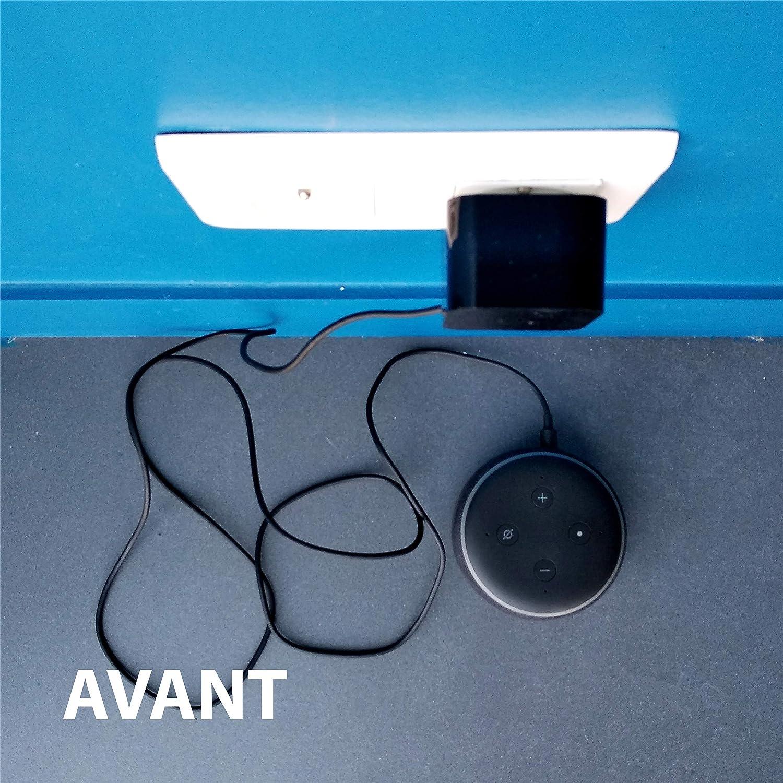 Concierge Soporte de Pared para  Echo Dot 3 PlugnSay