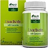 Livactivate Liver Cleanse con Curcumina | Disintossicante per il Fegato in Capsule Completamente Vegan (Non Compresse) | 120 Capsule | Contiene 20 Ingredienti Essenziali per la Salute del Fegato