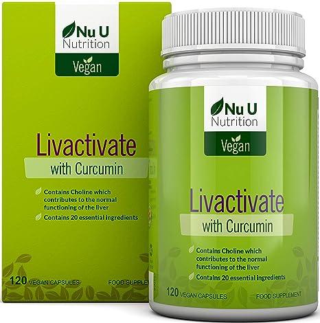 Livactivate Desintoxicador del Hígado con Curcumina | Vegano | Cápsula (no comprimido) Desintoxicante del