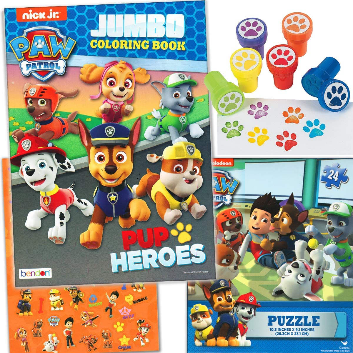 - Amazon.com: Paw Patrol Coloring And Stamper Activity Book Set