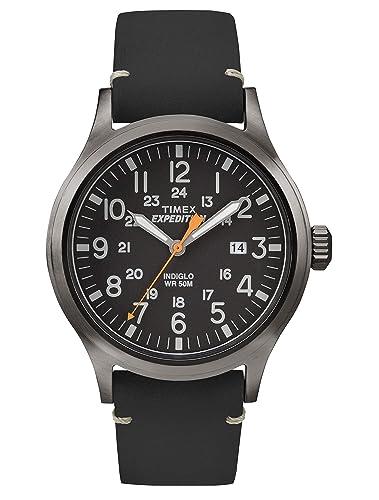 74ca4bfd6f76 Timex Expedition - Reloj análogico de cuarzo con correa de cuero para hombre
