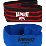 TapouT Resistance Bands for Legs and Glutes Prevents Knee and Back Pain - Suitable for Men and Women (Mega Deal 2 Strength Level Set)
