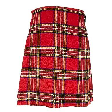 Hombre tradicional escocés 5 Patio Kilt, Royal Stewart Tartán Kilt ...