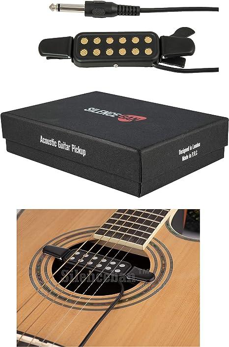 SilencebanTM - Pastilla para guitarra acústica (25,4 cm): Amazon ...