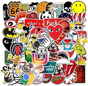 100 Pcs Fashion Brand Cool Stickers for Laptop Skateboard