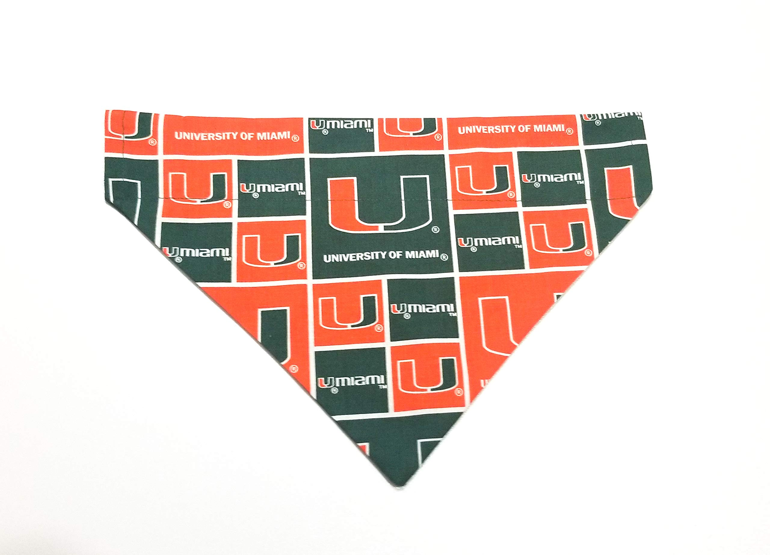 University of Miami - The U Dog Bandana Over the Collar No-Tie Design Kerchief
