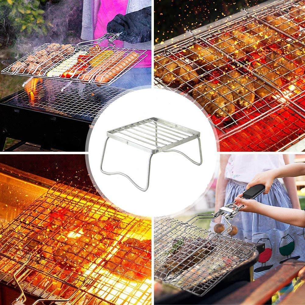 Yagoal Grilles Barbecue Grille Barbecue Ronde Non-Bâton Barbecue Grill Maille Tapis Non Bâton Barbecue Grill Tapis Barbecue Rack Barbecue Griller Tapis S L