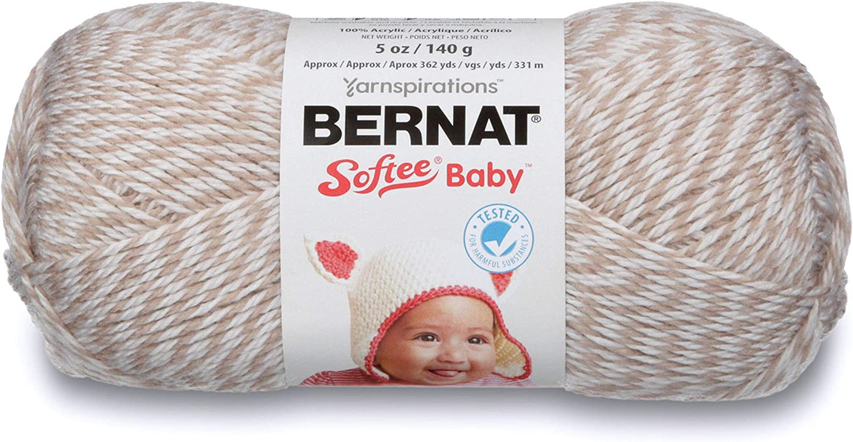 5 oz Baby Pink Marl Bernat Softee Baby Yarn Gauge 3 Light
