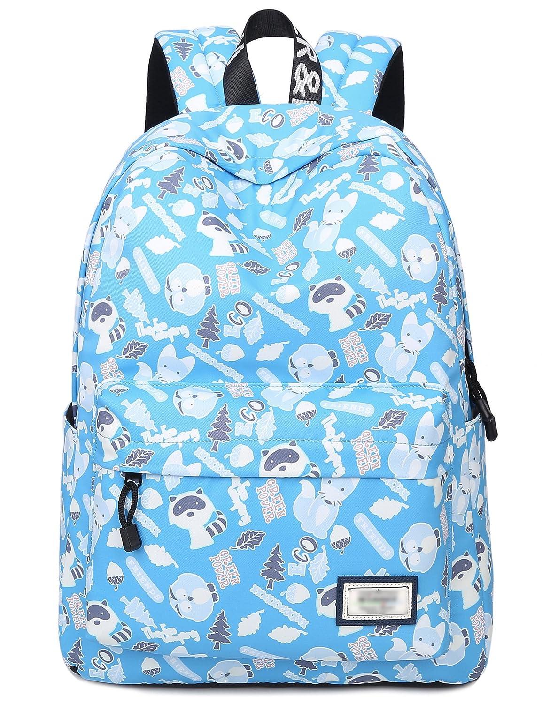 9de3dca6757 Amazon.com  Bookbags for Teens, Cute Animal Laptop Backpack School Bags  Travel Daypack Handbag by Leaper (Light Blue)  LeaperDirect