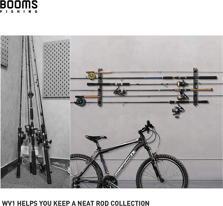 Fauge Fishing Soporte de pared vertical para 6 ca/ñas de pescar horizontal para garaje