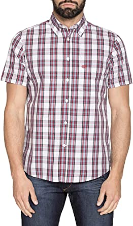 Carrera 166668 - Camisa de Hombre Vaqueros Multicolor con Estampado teñido de Hilo para Hombre, diseño a Cuadros de Colores Rojo, Azul y Gris: Amazon.es: Ropa y accesorios