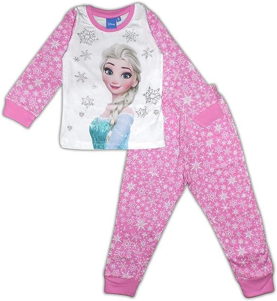 Disney Frozen Elsa - Pijama de manga larga (algodón) Rosa rosa 8 ...