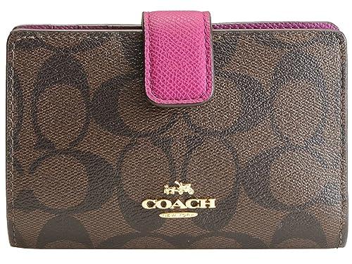 c51041481b99 Amazon | (コーチ) COACH 財布 長財布 二つ折り L字ファスナー ブラウン ...
