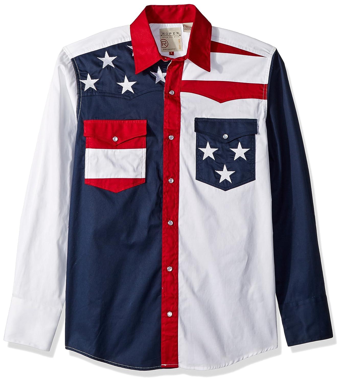 d80073df Roper Men's Pieced Stars and Stripes Patriotic
