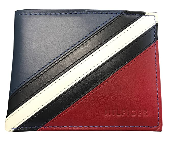 Amazon.com: Tommy Hilfiger Passcase y Valet Bifold wallet ...