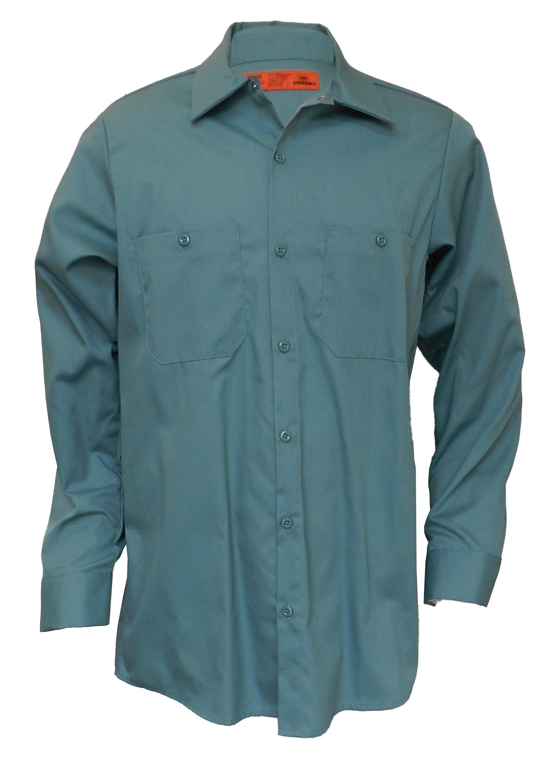 Industrial Long Sleeve Work Shirt MS14, Light Green, Small