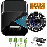 Spy Camera Charger Hidden Camera Mini Spy Camera 1080p USB Charger Camera Hidden Nanny Cam Hidden Spy Cam Surveillance…