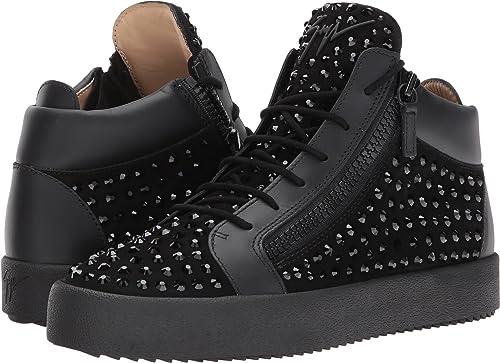new release uk store high fashion Amazon.com | Giuseppe Zanotti May London Mid Top Studded Sneaker ...