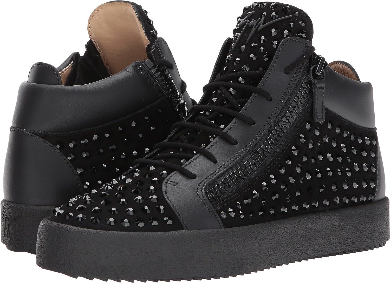 de50ba464887 Details about Giuseppe Zanotti Mens May London Mid Top Studded Sneaker