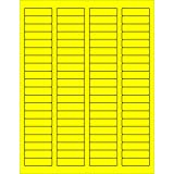 Tape Logic TLLL170YE Rectangle Laser Labels 1 3/4 x 1/2 Fluorescent Yellow