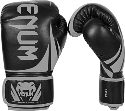 Venum Impact Boxing Gloves Grey//Black 16oz