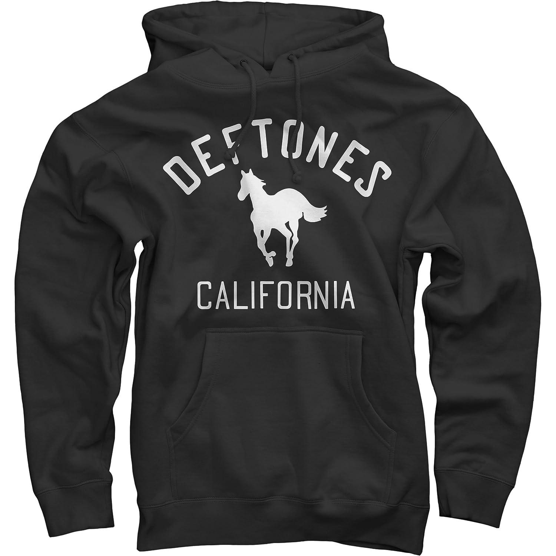 Deftones Men's Classic Pony On Black Hooded Sweatshirt Black MERCH DIRECT