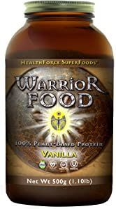 HealthForce Warrior Food Vanilla - 500g Vegan Protein Powder - Certified Organic Plant-Based Protein - with Minerals and Pea Protein - Sugar Free, Non-GMO, Soy Free, Gluten-Free - 25 Servings