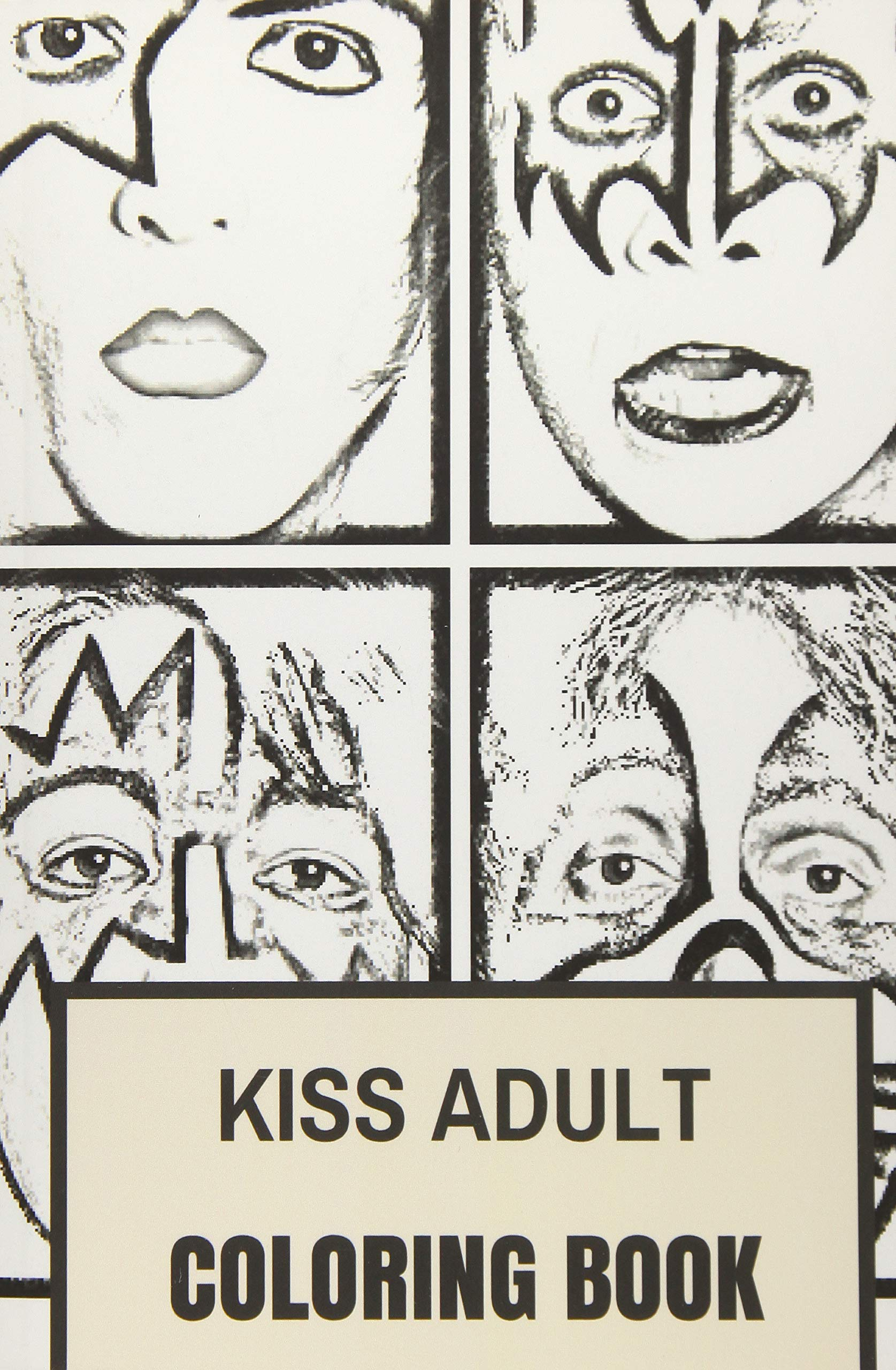 Amazon.com: Kiss Adult Coloring Book: Gene Simmons and Paul Stanley ...