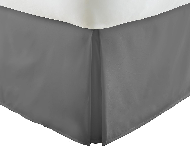 単にソフトプレミアムプリーツベッド用フリル付きスカートDust B075GLZD7K グレー ツイン ツイン グレー SS-BEDSKIRT-TWIN-GRAY ツイン グレー